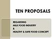 ten proposals