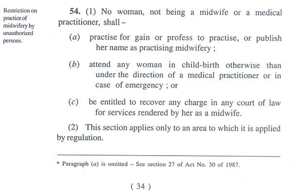 Medical Ordinance Chapter 54