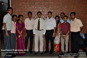 Pre interns with Dr Padeniya