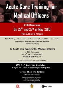 Advertisement for Moneragala Dctrs SIM 15-05-2015 (2)